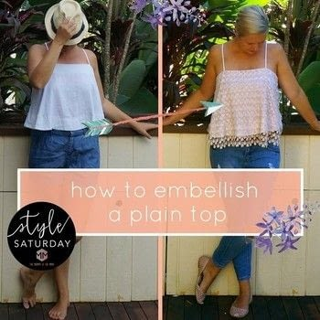Just add some lace to a cotton top and turn it into something wonderful .  Free tutorial with pictures on how to sew a lace top in under 60 minutes by dressmaking How To posted by Robyna.  in the Sewing section Difficulty: Simple. Cost: Cheap. Steps: 4