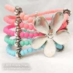 Pastel Flower Bracelet