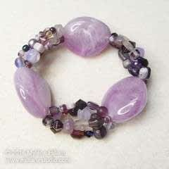 Orchid Stretch Bracelet