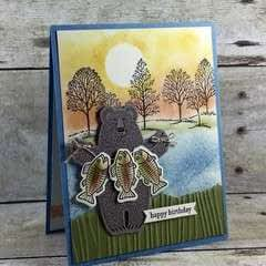 Bear Gone Fishing Card