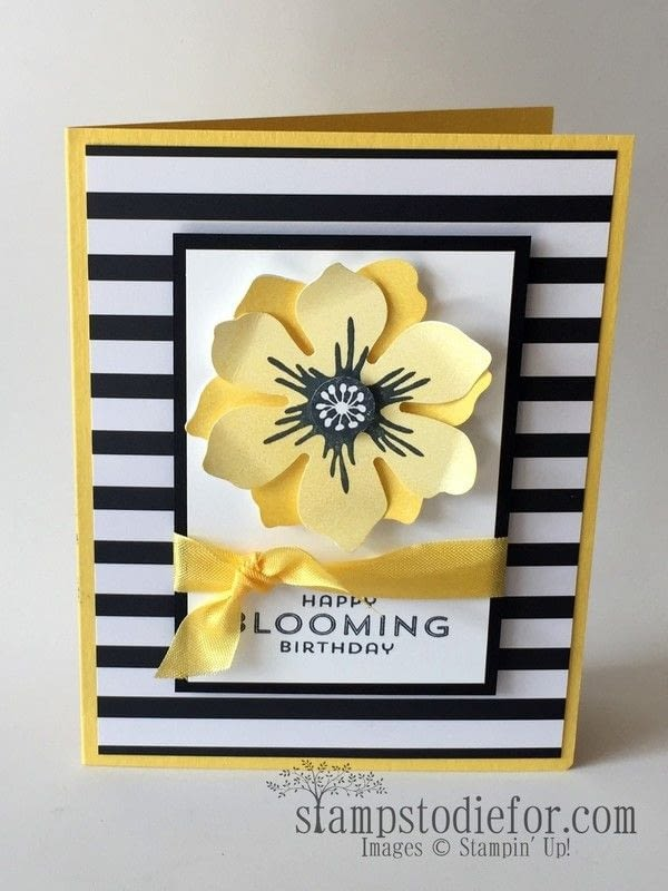 Black White And Yellow Birthday Card Tutorial How To Make A – Papercraft Birthday Card