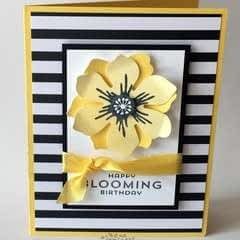 Black, White And Yellow  Birthday Card Tutorial