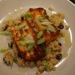 Fried Halloumi With Chickpea And Lime Couscous