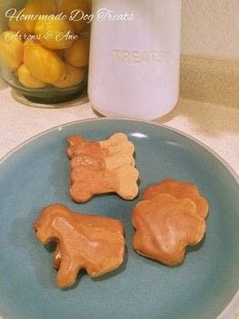 Easy dog treats you can make at home .  Free tutorial with pictures on how to cook pet food in under 20 minutes by cooking and baking with flour, baking powder, and peanut butter. How To posted by Tiffany C.  in the Recipes section Difficulty: Easy. Cost: Cheap. Steps: 4
