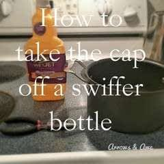 How To Remove The Cap On A Swiffer Bottle.
