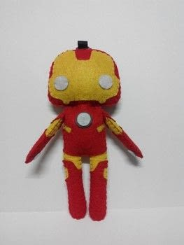 .  Sew a movie plushie using felt. Inspired by iron man. Creation posted by Czarina.  in the Needlework section Difficulty: 3/5. Cost: 3/5.