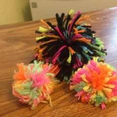 Cat Pom Pom Using Dies