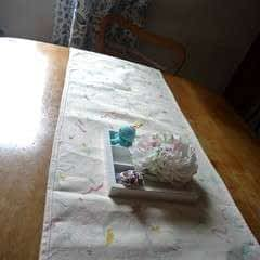 Watercolor Insect Print Table Runner
