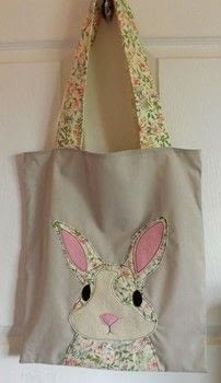 Handy Tote .  Sew an applique tote in under 120 minutes by machine sewing with felt, fabrics, and sewing machine. Inspired by rabbits. Creation posted by PixieFey.  in the Sewing section Difficulty: Easy. Cost: Absolutley free.