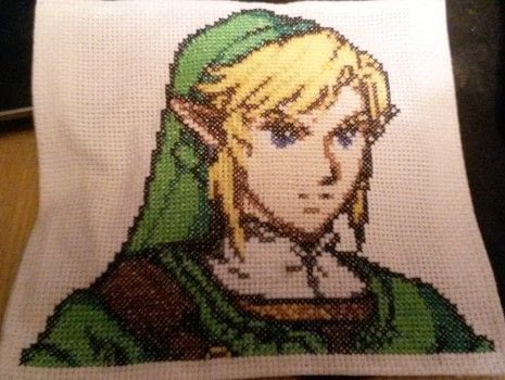 No pots were harmed in the making of this project.  .  Make a needlecraft by needleworking, cross stitching, embroidering, needlepointing, sewing, and hand sewing with cotton, aida cloth, and glue. Inspired by computer games and legend of zelda. Creation posted by hannah g.  in the Needlework section Difficulty: Simple. Cost: Cheap.