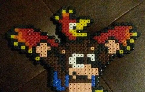 Who else is hyped for Yooka Laylee?  .  Bead a picture in under 60 minutes by beading and pegboarding with perler beads, pegboard, and clothes iron. Inspired by computer games, birds, and bears. Creation posted by hannah g.  in the Other section Difficulty: Easy. Cost: Absolutley free.