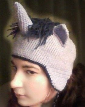 Friendship is Magic  .  Make an animal hat by braiding, needleworking, sewing, yarncrafting, crocheting, amigurumi, and hand sewing with crochet yarn and crochet hook. Inspired by cartoons, twilight, and kawaii. Creation posted by hannah g.  in the Yarncraft section Difficulty: 3/5. Cost: Cheap.