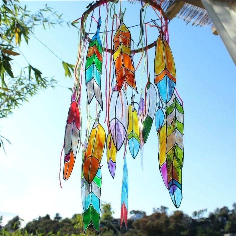 Faux Stained Glass Feathers How To Make A Mobile Art On Cut Out