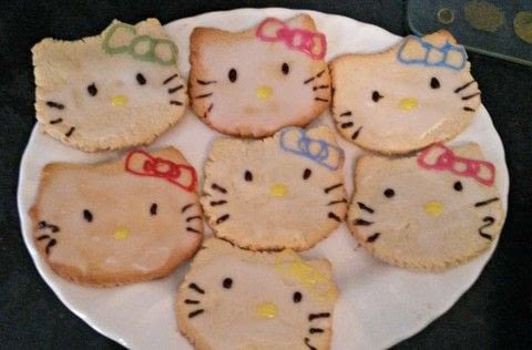 As tasty as they are cute .  Free tutorial with pictures on how to bake a butter cookie in under 30 minutes using butter, caster sugar, and egg. Inspired by kitchen, hello kitty, and kids. Recipe posted by hannah g.  in the Recipes section Difficulty: Simple. Cost: Cheap. Steps: 7