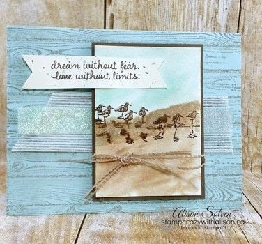 Wetlands - Dream without fear.. .  Free tutorial with pictures on how to make a collages in under 30 minutes by cardmaking and stamping with stampers, paper, and ink. How To posted by Alison S.  in the Papercraft section Difficulty: Simple. Cost: 3/5. Steps: 2