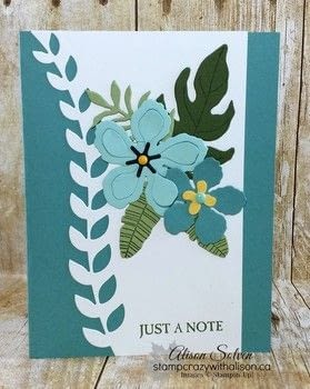 Botanical Blooms Stamp Set - Just a Note .  Free tutorial with pictures on how to make a notecard letter in under 20 minutes using card. How To posted by Alison S.  in the Papercraft section Difficulty: Easy. Cost: 3/5. Steps: 2