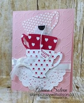 Have a Cuppa Tea Card .  Free tutorial with pictures on how to make a greetings card in under 25 minutes using card. How To posted by Alison S.  in the Papercraft section Difficulty: Easy. Cost: 3/5. Steps: 2