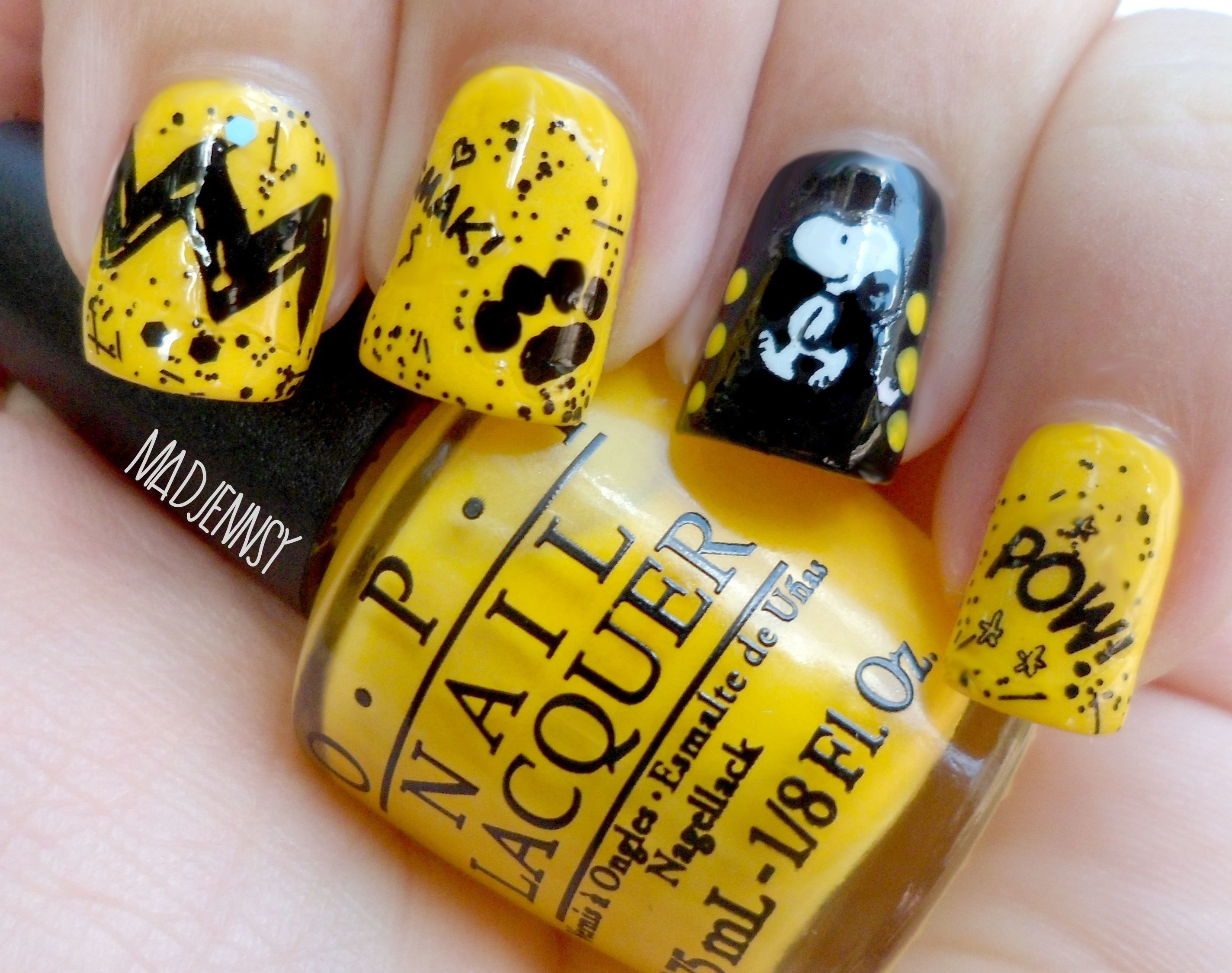 Snoopy Nail Art Peanuts Collection By Opi Review 183 How To Paint An Embellished Nail Manicure