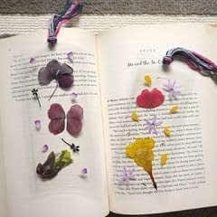 Diy Pressed Flower Laminated Bookmarks