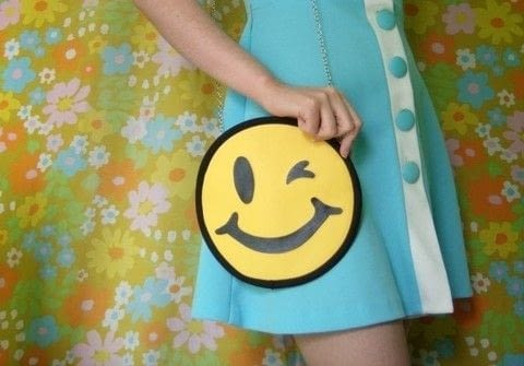 These bags are almost too cute to handle .  Free tutorial with pictures on how to make a novetly bag in under 180 minutes using paper, ruler, and scissors. Inspired by emojis. How To posted by Self-Constructed Freak.  in the Sewing section Difficulty: Simple. Cost: Cheap. Steps: 22