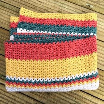 Honour the hot days and cool nights of a very British summer .  Free tutorial with pictures on how to stitch a knit or crochet blanket in 4 steps by crocheting with aran yarn, aran yarn, and aran yarn. How To posted by Woolly Truckle.  in the Yarncraft section Difficulty: Easy. Cost: 5/5.