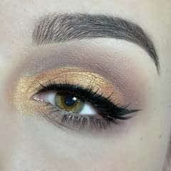 Cut Crease with gold & brown shades!