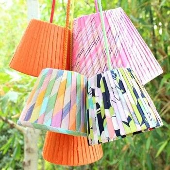 .  Free tutorial with pictures on how to make a lamp / lampshade in under 120 minutes by decorating and not sewing with fabrics, bias tape maker, and hot glue gun. How To posted by Mark Montano.  in the Sewing section Difficulty: Simple. Cost: Cheap. Steps: 3