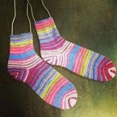 Toe Up Socks With An Afterthought Heel