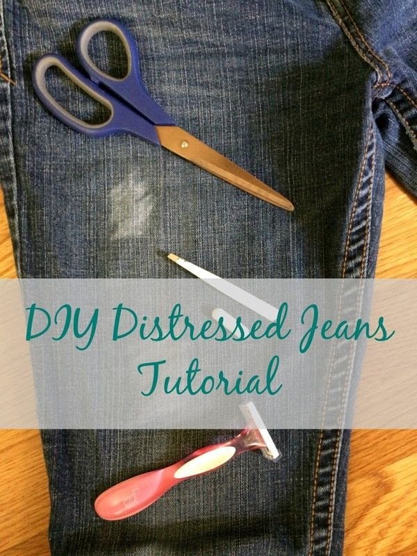 Distressed Jeans Tutorial · How To Rip A Pair Of Ripped Jeans ...