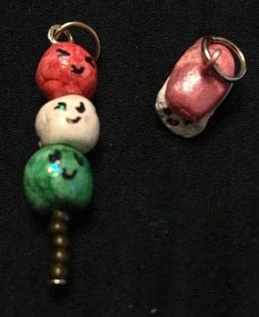 Kawaii, Roses, anime, sailor Doodle, and much more, all etsy inspired .  Make a charms in under 180 minutes by constructing, decorating, embellishing, jewelrymaking, collage, and  with acrylic paint, polymer clay, and head pin(s). Inspired by japanese, anime & manga, and kawaii. Creation posted by Kinhime Dragon.  in the Jewelry section Difficulty: 3/5. Cost: No cost.