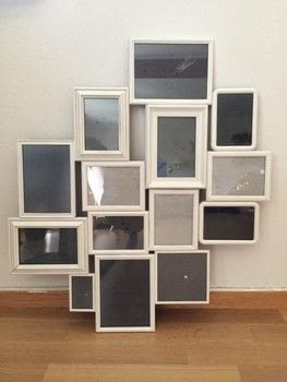 Upcycle all of those old photo frames! .  Free tutorial with pictures on how to make a photo holder in under 180 minutes by spraypainting with frame, glue, and spray paint. How To posted by Sunny.  in the Home + DIY section Difficulty: Simple. Cost: Absolutley free. Steps: 6