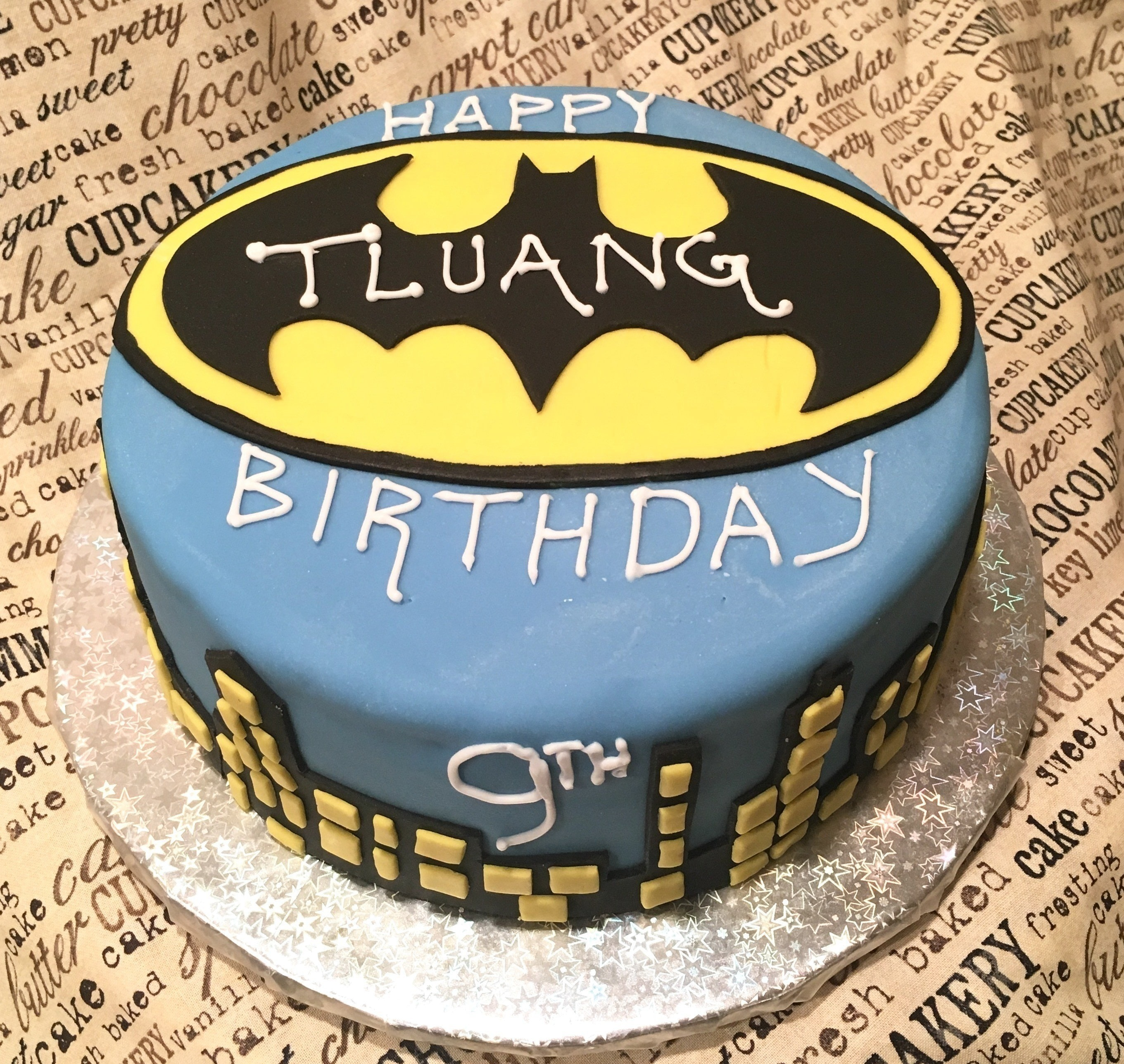 Batman Cake A Layer Cake Recipes on Cut Out Keep Creation by