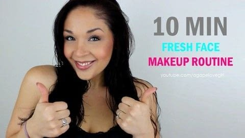 """My 10 Minute """"Fresh Face"""" makeup routine .  Free tutorial with pictures on how to create your own face makeup in under 10 minutes by applying makeup with powder. How To posted by Maria G.  in the Beauty section Difficulty: Easy. Cost: 3/5. Steps: 1"""
