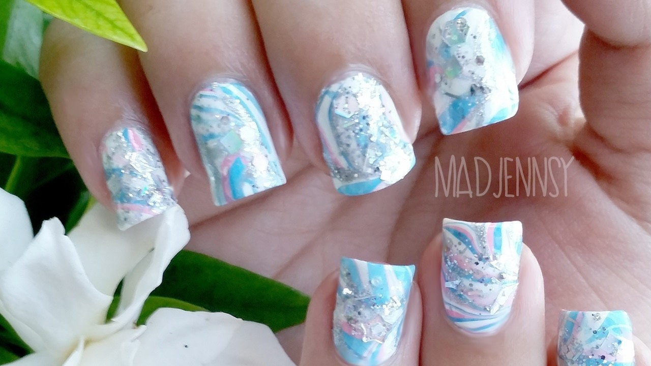 Free Tutorial With Pictures On How To Paint A Marbled Nail In Under 40 Minutes