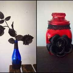 Diy Gothified Jar And Vase Embellishments