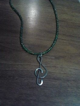 Musical is beautiful! .  Make a pendant necklace in under 15 minutes using pendant, wire, and jump rings. Creation posted by Ashley P.  in the Jewelry section Difficulty: Easy. Cost: Absolutley free.