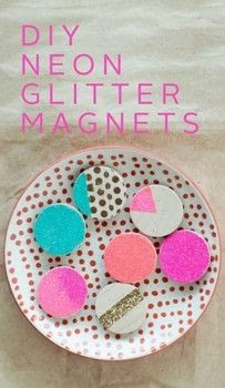 Three words: NEON GLITTER MAGNETS (drops the mic). Just kidding. Mostly. .  Free tutorial with pictures on how to make a magnet in under 60 minutes by decorating and embellishing with clear acrylic sealer, wood, and small paintbrush. How To posted by Cassandra L.  in the Decorating section Difficulty: Easy. Cost: Cheap. Steps: 3