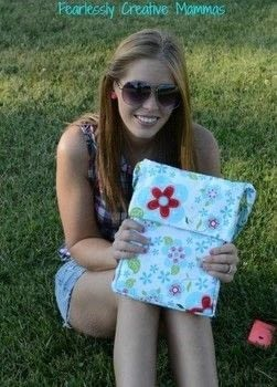 Create your own tote bag for your tablet.  .  Free tutorial with pictures on how to make a tablet sleeve in under 120 minutes using fabric, thread, and buttons. How To posted by Kathleen C.  in the Sewing section Difficulty: 3/5. Cost: Cheap. Steps: 9