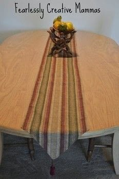 .  Free tutorial with pictures on how to make a tablecloth / table runner in under 90 minutes by sewing with thread, table, and tassels. How To posted by Kathleen C.  in the Sewing section Difficulty: Simple. Cost: Cheap. Steps: 5