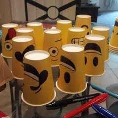 Emoji Face Paper Cups