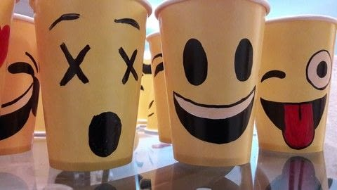 Ridiculously easy! .  Free tutorial with pictures on how to make a cup / mug in under 45 minutes by creating, drawing, and creating with paper cup, permanent marker, and pencil. Inspired by emojis. How To posted by jesika_galaxia.  in the Decorating section Difficulty: Easy. Cost: Cheap. Steps: 3