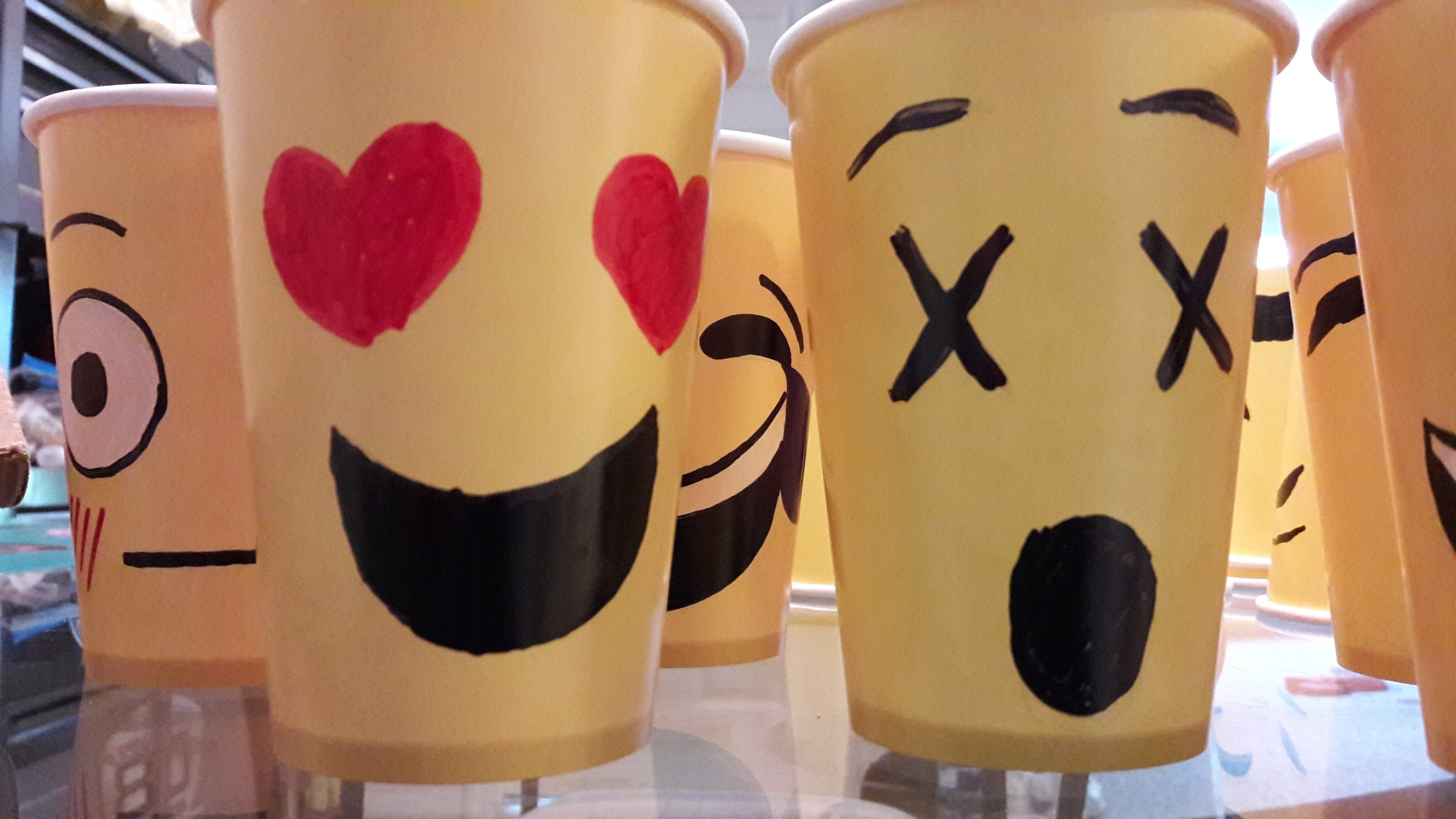 Emoji Face Paper Cups 183 How To Make A Cup Mug 183 Decorating On Cut Out Keep