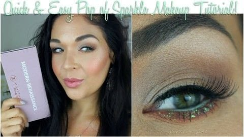 Create a A Pop Of Sparkle Eye .  Free tutorial with pictures on how to create a glitter eye in under 15 minutes by applying makeup with eyeshadow. How To posted by Maria G.  in the Beauty section Difficulty: Easy. Cost: 4/5. Steps: 1