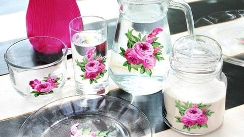 Use thrift store dishes to make beautiful, vintage floral glassware .  Free tutorial with pictures on how to make a glass in under 60 minutes by creating, embellishing, glassworking, papercrafting, and transfering with images, glassware, and americana dishwasher safe decoupage. How To posted by Mark Montano.  in the Decorating section Difficulty: Easy. Cost: Absolutley free. Steps: 2