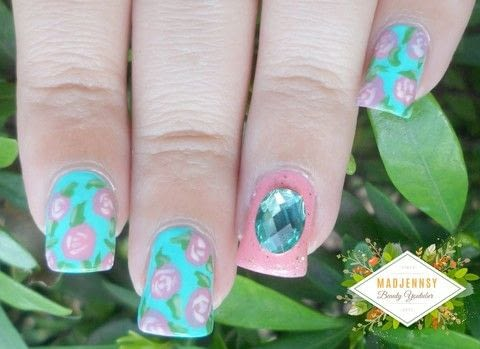 Hi guys! Today's video it's a gorgeous #NailArt ! .  Free tutorial with pictures on how to paint patterned nail art in under 40 minutes using base coat nail polish and china glaze too yacht to handle. Inspired by vintage & retro. How To posted by Jennifer R.  in the Beauty section Difficulty: Easy. Cost: Cheap. Steps: 1