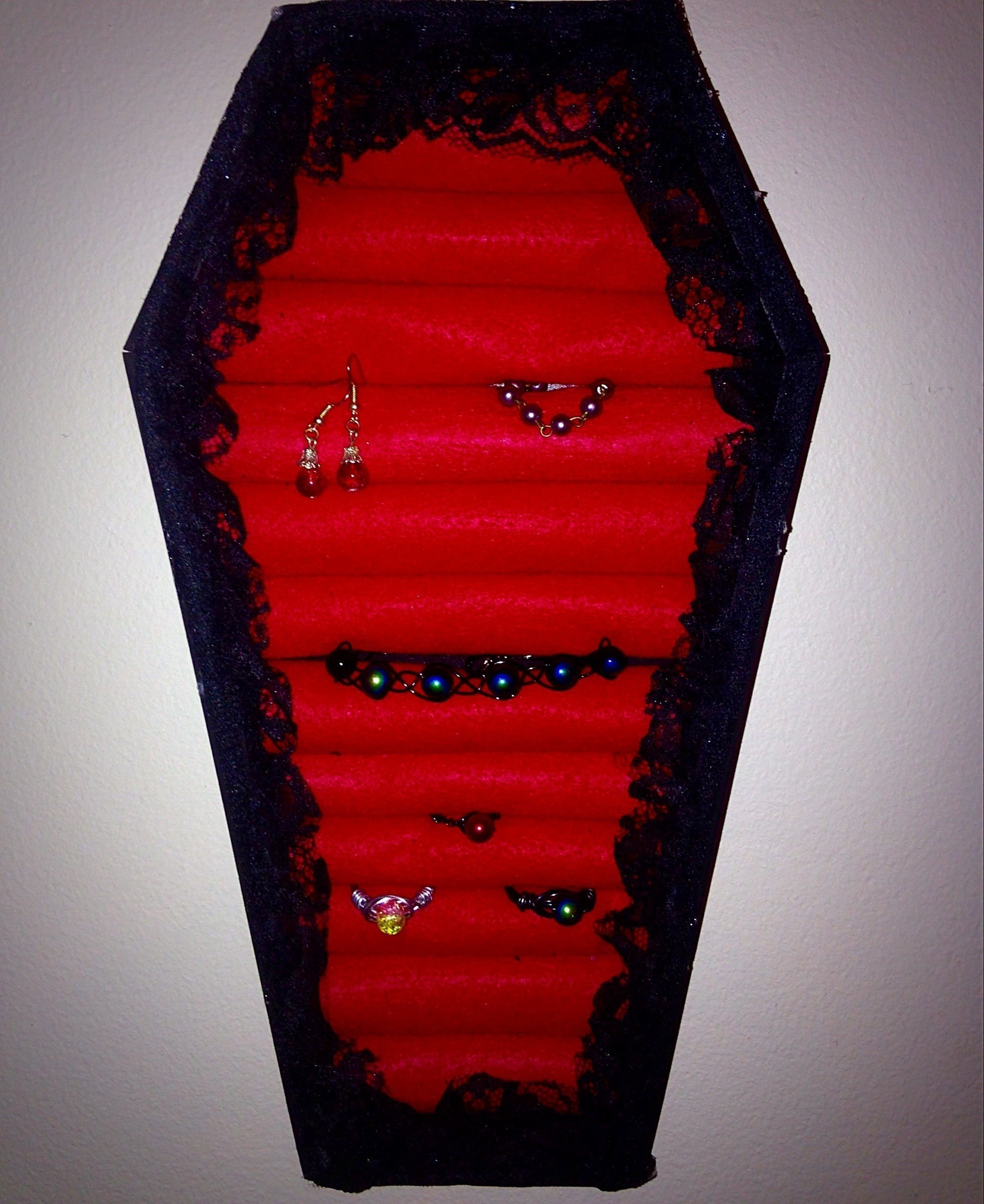 Diy Coffin Jewelry Box 183 How To Make A Jewelry Display