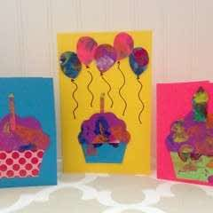 How To Make Cards Out Of Your Toddler's Art
