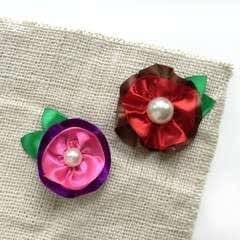 Create Ruffled Ribbon Flowers