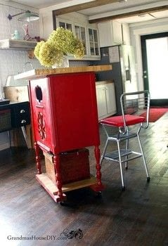 An amazing upcycle to a piece of furniture I didn't know what to do with! .  Make a bookcase / cubby using paint, paintbrushes, and castors. Inspired by kitchen and paint palette. Creation posted by GrandmasHouseDIY.  in the Home + DIY section Difficulty: 3/5. Cost: Cheap.