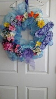 Spring Fling .  Make a fabric wreath in under 120 minutes by not sewing with wreath form, mesh, and pipe cleaners. Creation posted by jay-hi3118.  in the Other section Difficulty: Simple. Cost: Cheap.